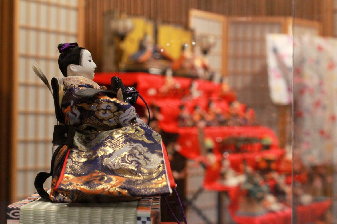 Hinamatsuri exhibit at The Children's Museum of the Upstate, March 2017