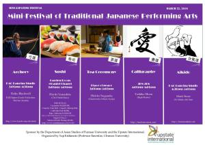 Mini Festival of Japanese Traditional Arts at Furman March 22