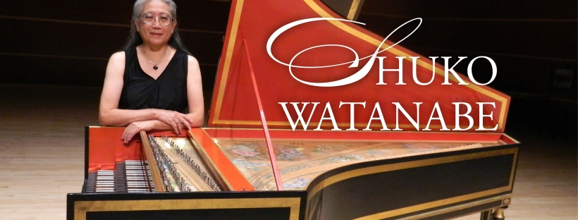 Shuko Watanabe poses next to historic piano to promote upcoming lecture and piano performance